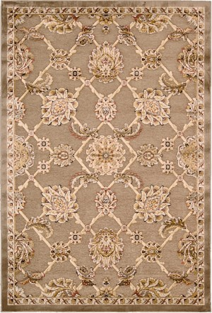 Kathy Ireland Bel Air KI301 BRN Buckingham Brown Closeout Area Rug