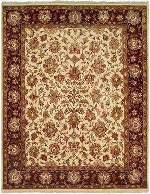 Allara Layered AY-1002 Ivory/Burgundy Closeout Area Rug