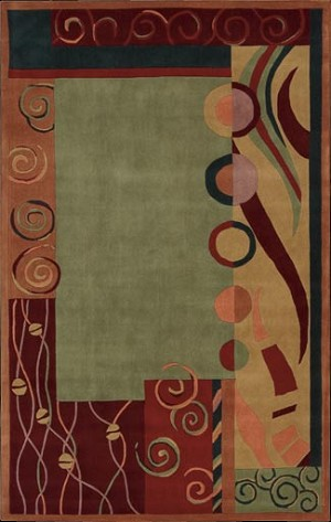 Nourison Dimensions Nd02 Gre Green Closeout Area Rug