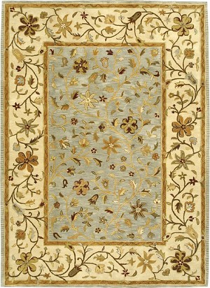 Bashian Wilshire R128 HG110 Ratna Light Blue Closeout Area Rug