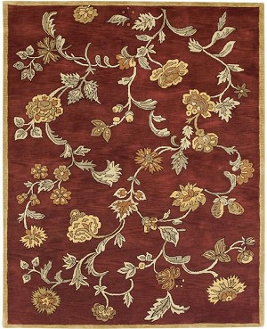 Bashian Wilshire R128 HG113 Ratna Red Closeout Area Rug
