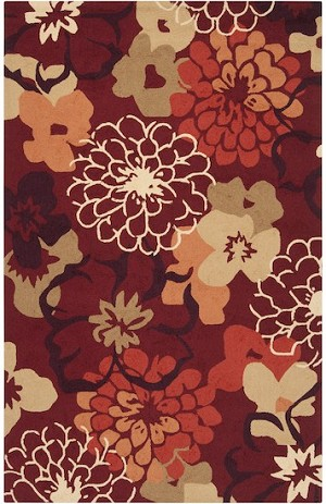 Surya Brentwood BNT-7691 Carnelian/Poppy Red/Pale Gold Closeout Area Rug - Spring 2014