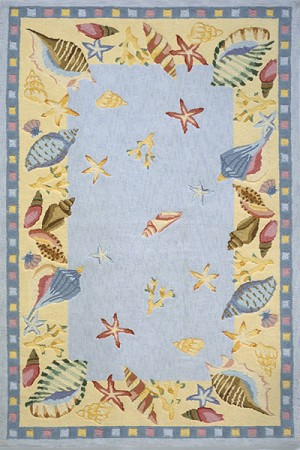 Momeni Coastal CC-04 Light Blue Closeout Area Rug