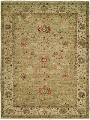 HRI Newburry CH-6 Light Green/Ivory Closeout Area Rug