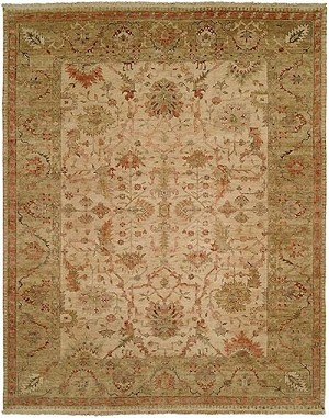 HRI Newburry CH-9 Ivory/Green Closeout Area Rug