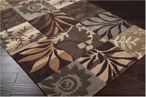 Surya Cosmopolitan COS-8817 Dark Chocolate/Caramel/Dark Beige Closeout Area Rug