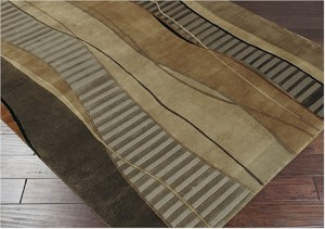 Surya Mugal IN-8020 Brown Sugar/Dusky Green/Mushroom Area Rug