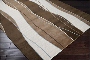 Surya Mugal IN-8072 Dark Brown/Raw Umber/Slate Grey Closeout Area Rug - Fall 2013