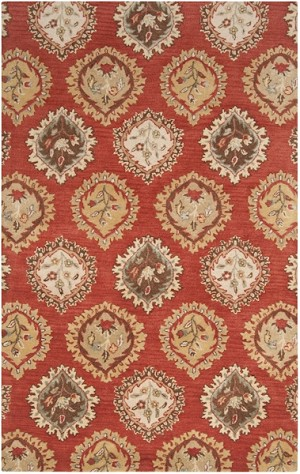 Surya Langley LAG-1010 Carmine/Khaki Green/Gold Closeout Area Rug - Fall 2014