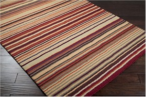 Surya Mystique M-102 Mulberry/Burnt Sienna/Moth Beige Closeout Area Rug