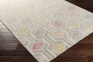 Surya Melody MDY-2001 Ivory/Olive/Grey/Cherry/Burnt Orange/Gold Area Rug