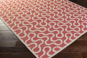 Surya Aimee Wilder Native NTV-7007 Coral/Ivory Closeout Area Rug - Spring 2015