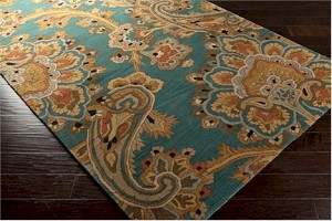 Surya Sea SEA-168 Alpine Green/Caramel/Mossy Gold Area Rug