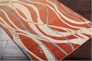 Surya Studio SR-109 Ginger/Antique White/Cameo Blue Closeout Area Rug